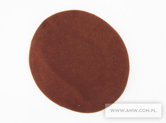 Beret kolor brązowy
