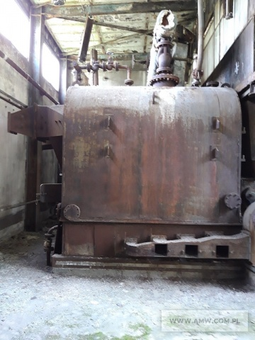 Elementy kotłowni do demontażu - pakiet zawierający: kotły - 4 szt., wymienniki ciepła - 3 szt., zbiornik wody - 1 szt., elektrowciąg linowy (niekompletny), elementy instalacji parowej.